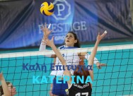 With his announcement, the volleyball player Apollon wishes good luck to Katerina Zakhaiou for her transfer to the Italian Cuneo