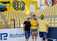 Apollon wishes the AEL player, Antonia Theoti, a passing