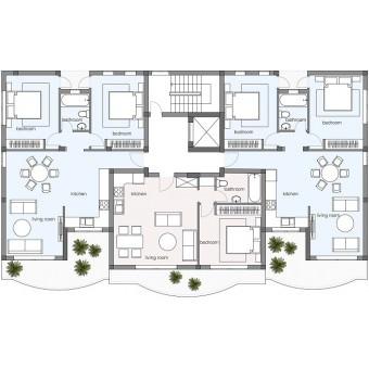 Evergreen Блок A: Апартаменты 201